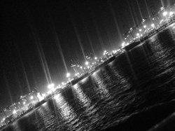 夜の天津港