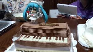初音ミクのクリスマスケーキ