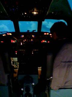 飛行機ってほんと計器が多い。覚えられません(泣)